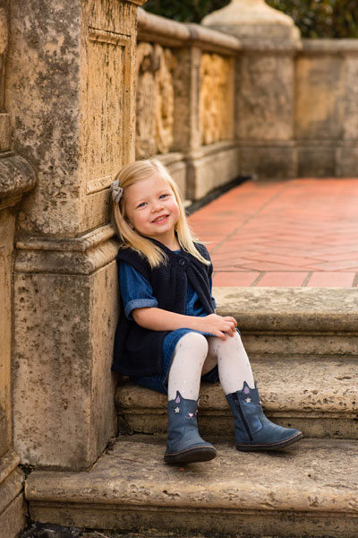 Photo of Little Girl on Steps Edited by Private Editors with Custom Editing Style
