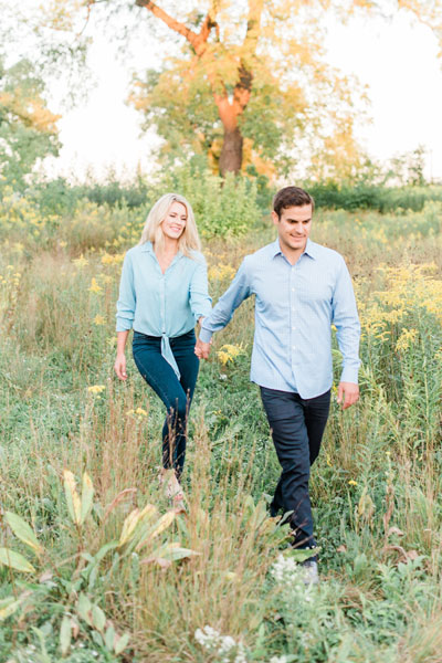 Light & Airy Preset Used on Color Corrected Photo of Engagement Session