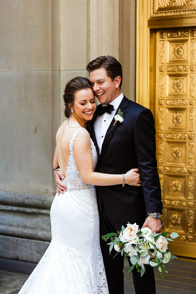 Custom Color Correction on Wedding Portrait with Bold Preset that Pops Color