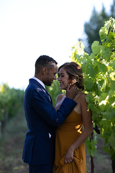 Engagement Session in Vineyard