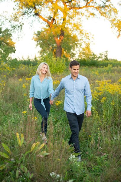 Unedited Photo of Couple in Field for Engagement Session