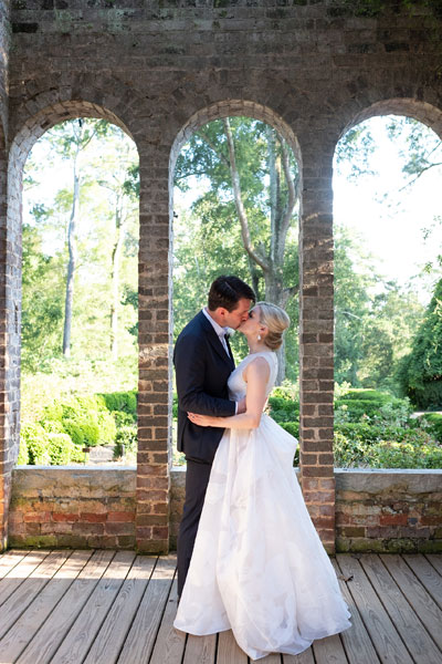 Unedited Portrait of Bride & Groom at Gardens